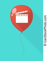 Long shadow balloon with a clapperboard