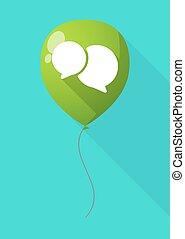 Long shadow balloon with a comic balloon
