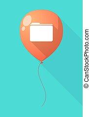 Long shadow balloon with a folder