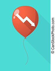 Long shadow balloon with a graph