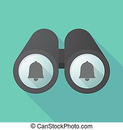 Long shadow binoculars with a bell