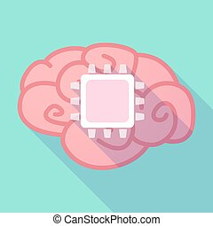 Long shadow brain with a cpu