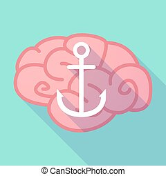 Long shadow brain with an anchor