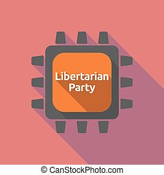 Long shadow cpu with the text Libertarian Party -...