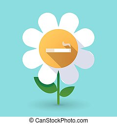 Long shadow daisy with a cigarette