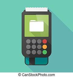 Long shadow dataphone with a folder