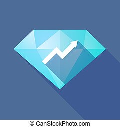 Long shadow diamond with a graph