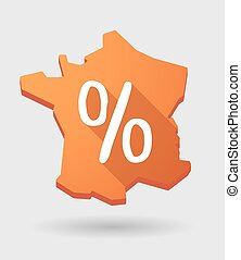 France map icon with a discount sign