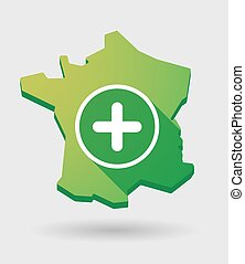 France map icon with a sum sign