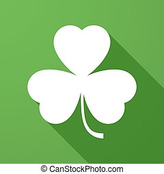 Long shadow icon with a clover