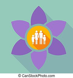 Long shadow loto with a conventional family pictogram