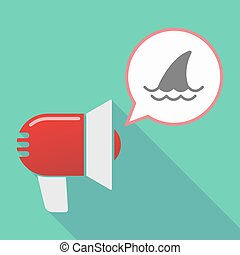 Long shadow  megaphone with a shark fin