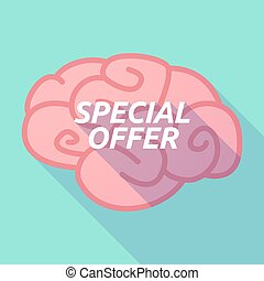 Long shadow pink brain icon with the text SPECIAL OFFER