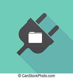 Long shadow plug with a folder