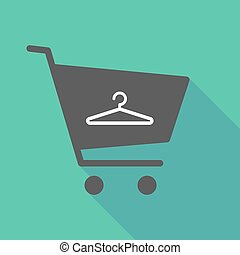 Long shadow  shopping cart with a hanger