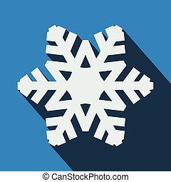 Long shadow snowflake icon