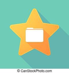 Long shadow star with a folder