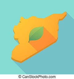 Green syria map Map of administrative divisions of syria vector