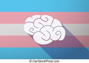 Long shadow transgender flag with