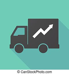 Long shadow truck with a graph