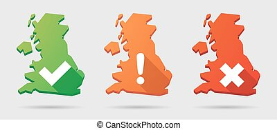 UK map icon set with survey signs