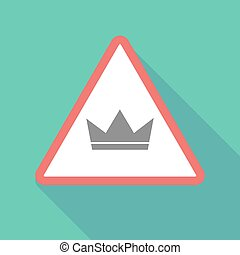 Long shadow warning signal with a crown