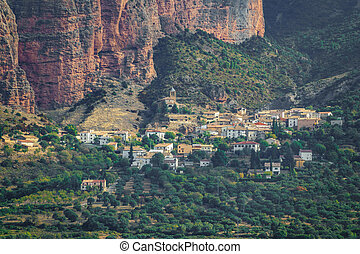 Riglos Mallets town under the rocks