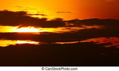 Long shot of sunset. - Tropical sunset. Phuket, Thailand....