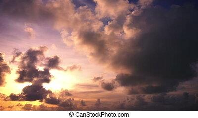 Long sky sunset timelapse video