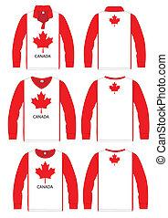 Long-sleeved sport shirt. Canada