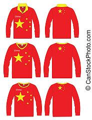 Long-sleeved sport shirt. China