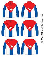Long-sleeved sport shirt. Cuba