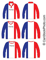 Long-sleeved sport shirt. French