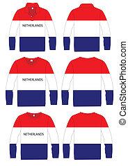 Long-sleeved sport shirt netherland