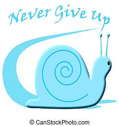 long snail trail - blue snail leaving a long trail...