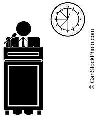 long speech or presentation
