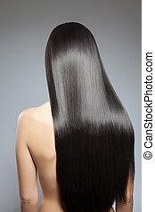 Long straight hair