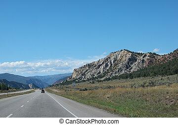 Long, straight highway colorado