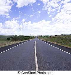 Long straight road in outback Australia