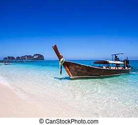 Long-tailed boat at Phi Phi island south Thailand