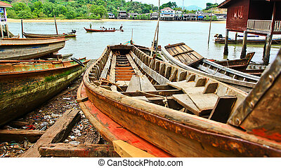 Long-tailed boat in thailand