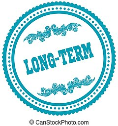 LONG TERM blue round stamp. Illustration image concept