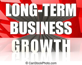 Long-term business growth - Hi-res original 3d rendered...
