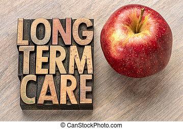 long term care in letterpress wood type