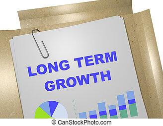 Long Term Growth concept - 3D illustration of 'LONG TERM...