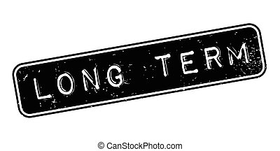 Long Term rubber stamp. Grunge design with dust scratches....