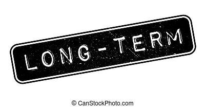 Long-term rubber stamp on white. Print, impress, overprint.
