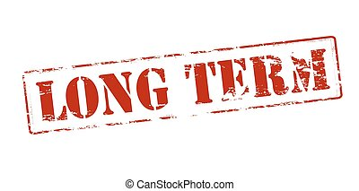 Long term - Rubber stamp with text long term inside, vector...