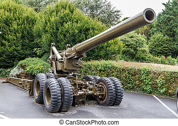 Long Tom artillery - Beautiful view of a WWII 155 mm Gun M1...