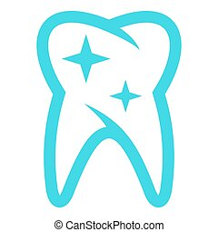 Long tooth icon, flat style.